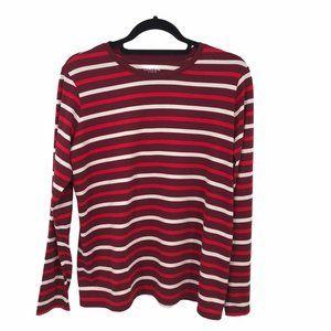 Land's End Striped Long Sleeve Tee Shirt MP